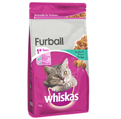 <p><span>WHISKAS<sup>®</sup> Adult </span><br /><span>1+ Years Furball</span></p>