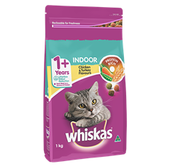 <p><span>WHISKAS<sup>®</sup> Adult </span><br /><span>1+ Years Indoor</span></p>